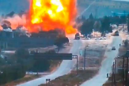 Атака на российско-турецкий конвой в Сирии попала на видео