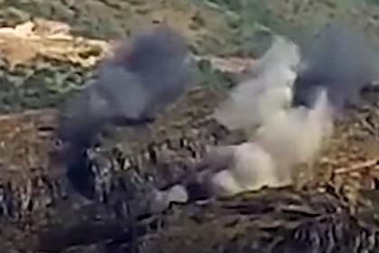 Армения опубликовала видео уничтожения азербайджанских опорных пунктов