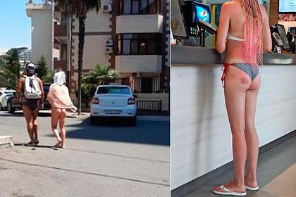 Туристки в бикини вызвали негодование у жителей российских курортов