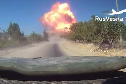 Атаку террористов на российско-турецкий патруль в Сирии показали глазами военных