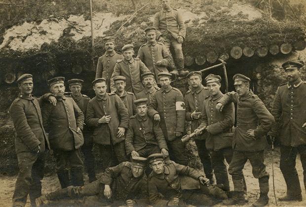 Первая мировая война, 1918 год. Западный фронт. Фотография на память