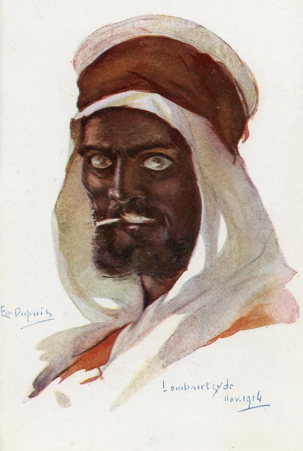 Первая мировая война стала войной народов. На стороне Антанты сражались войска из многочисленных французских колоний. Араб из Северной Африки