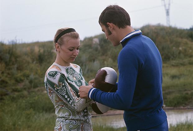 Вячеслав Лемешев с первой женой Оксаной