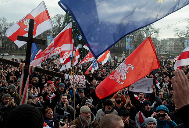 Протесты против интеграции с Россией в 2019 году