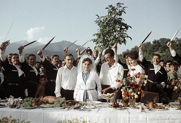 Свадьба в грузинском селе Ахалсопели, 1968 год