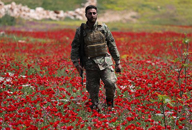 Военный-повстанец в провинции Идлиб