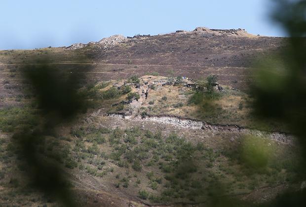 Тавушская область. Азербайджанский военный пост на границе с Арменией