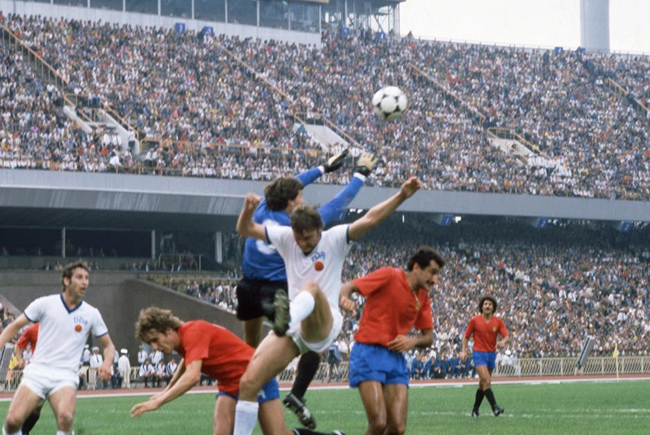 Матч сборных команд ГДР и Испании на Республиканском стадионе в Киеве, 23 июля 1980 года