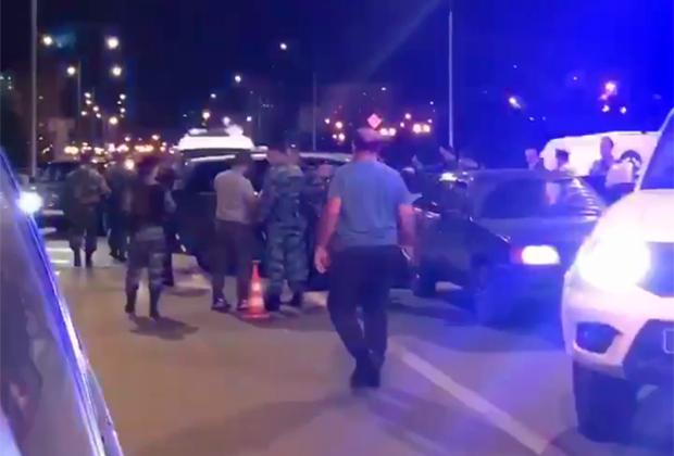 Кадры после ночных драк в Москве