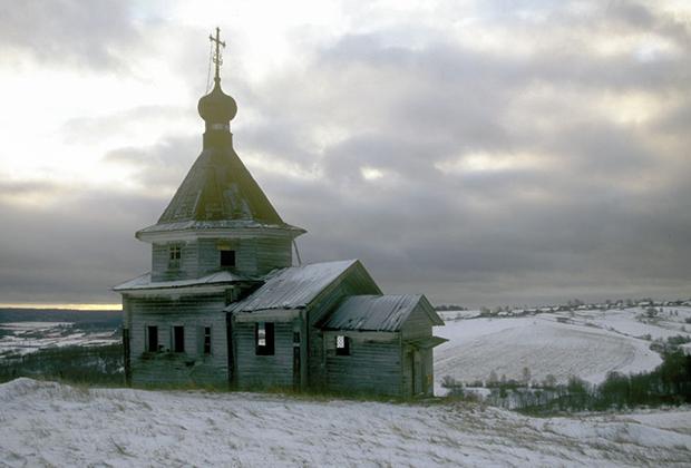 Часовня Зосимы и Савватия, Соловецких чудотворцев, Архангельская область, 1999 год