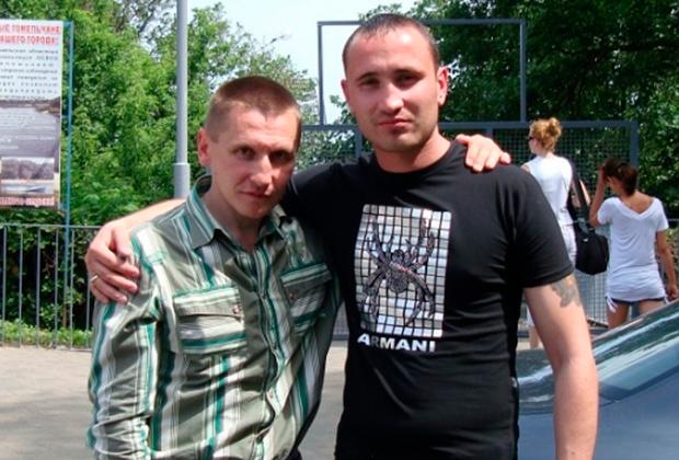 Вор в законе Александр Кушнеров (Саша Кушнер) и криминальный авторитет Олег Немец. Гомель, 2010 год