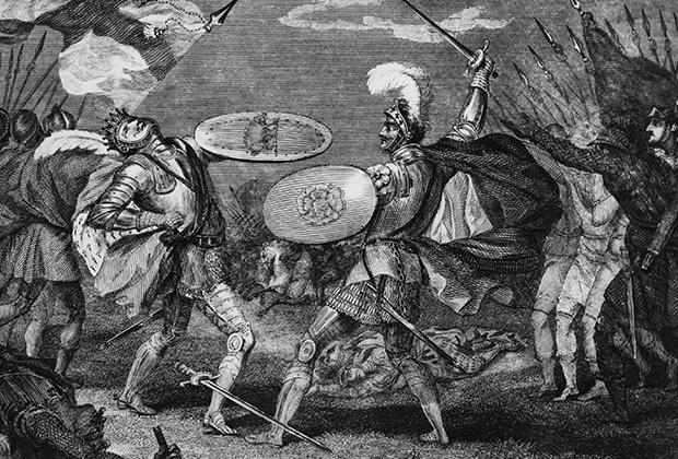Смерть Ричарда III от рук Генриха Тюдора (позднее Генриха VII)