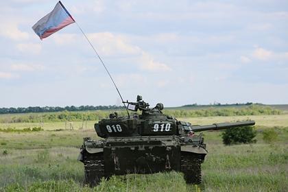 Танк ДНР на линии соприкосновения