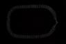 Эту цепь называют «колетцатая», так как ширина цепи определяется количеством скрепленных между собой колец, а самыми дорогими считались широкие цепи с пятью связанными кольцами. На цепь вешался крест, и девушка могла носить одновременно три такие цепи с крестами.