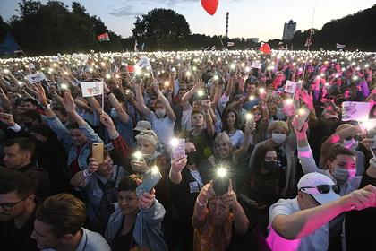 Митинг оппозиции посетило рекордное количество белорусов