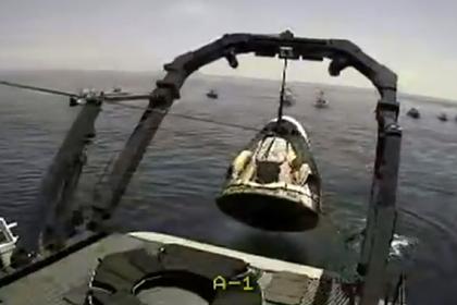 НАСА показало вылавливание Crew Dragon из Мексиканского залива