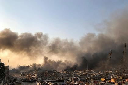 Появилось видео с места взрыва в Бейруте