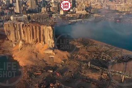 Разрушенный взрывом Бейрут показали на видео с высоты птичьего полета