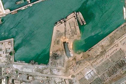 Разрушенный взрывом Бейрут показали из космоса