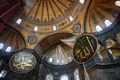 В переделанном в мечеть соборе Святой Софии внезапно умер муаззин