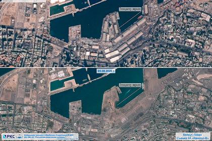 «Роскосмос» показал последствия взрыва в Бейруте из космоса