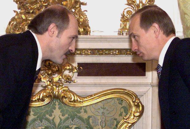 Лукашенко встречается с тогда еще и.о. президента России Владимиром Путиным, 26 января 2000 года
