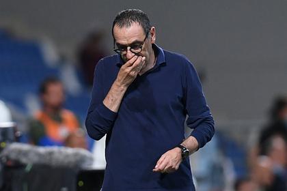 «Ювентус» отправил Сарри вотставку после вылета изЛиги чемпионов