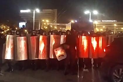 Бойцы ОМОН в Минске