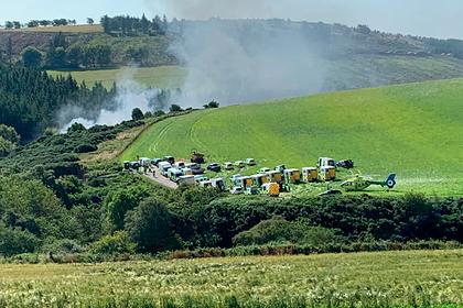 В Шотландии пассажирский поезд сошел с рельсов