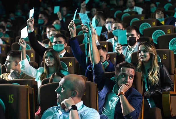 Съезд партии «Новые люди» на территории многофункциональной площадки для технологического бизнеса Цифровое деловое пространство