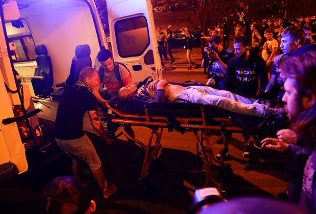 Первая ночь протестов, Минск