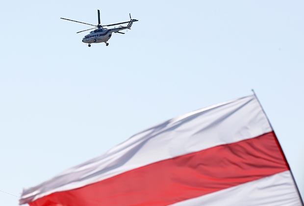 Вертолет Лукашенко над МЗКТ