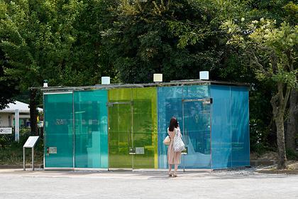 В Японии появились прозрачные туалеты