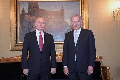Владимир Путин и Саули Ниинисте