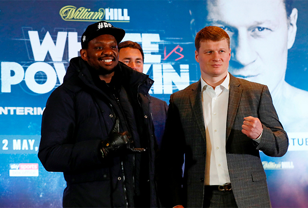 Диллиан Уайт (слева) и Александр Поветкин
