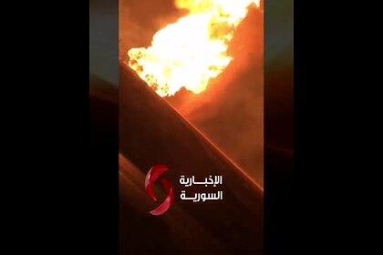Полностью обесточивший Сирию взрыв показали на видео