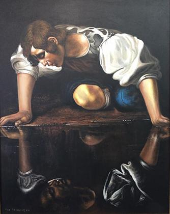 Копия «Нарцисса» Караваджо