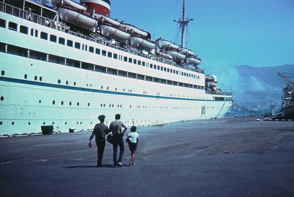 Пароход «Адмирал Нахимов» в Новороссийске. 31 августа 1986 года