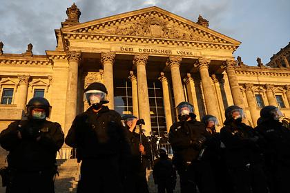 Протестующие против антикоронавирусных мер попытались прорваться в рейхстаг
