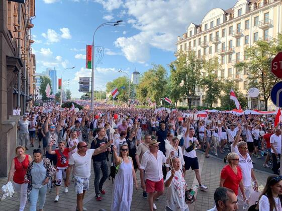 Первый «Марш свободы» 16 августа