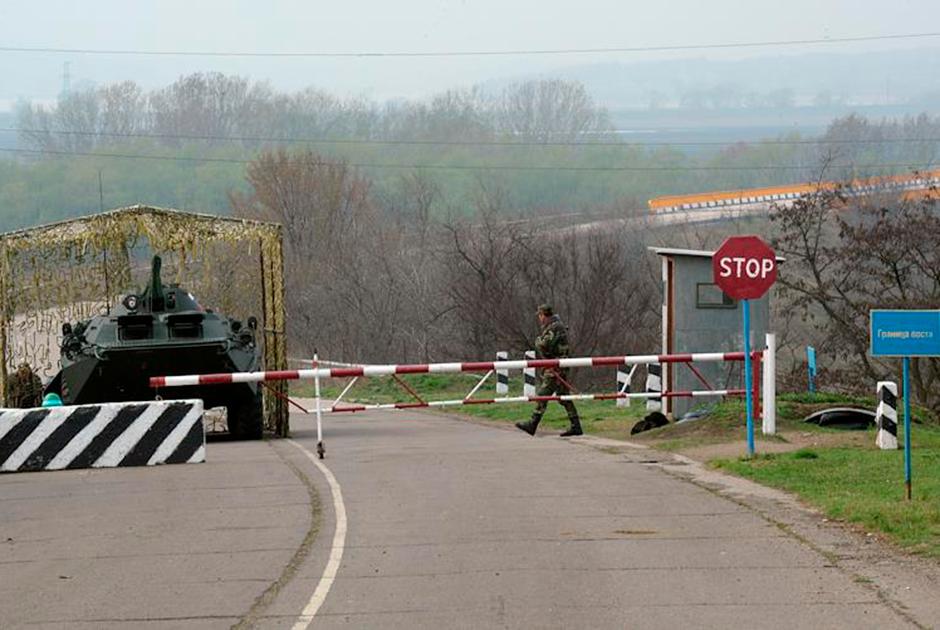 Блокпост на границе между Приднестровьем и Молдавией, 1992 год