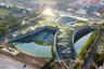 """На крыше Университета Таммасат в Бангкоке (Таиланд) появилась <a href=""""https://www.dezeen.com/awards/2020/longlists/thammasat-university-rooftop-farm/"""" target=""""_blank"""">ферма</a>, ландшафт которой имитирует традиционные рисовые террасы. Данный регион особенно уязвим перед изменениями климата, поскольку бурная бесконтрольная индустриализация привела к постоянным изменениям погоды. Она резко меняется от сухой до чрезвычайно влажной, что отражается на урожае. Поэтому архитекторы из Landprocess переоборудовали 22 тысячи пустующих квадратных метров в крупнейшую органическую ферму Азии, основанную на разумном использовании ресурсов."""