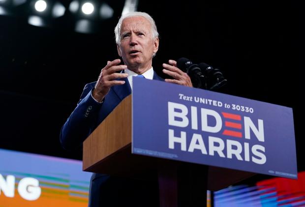 Кандидат в президенты от демократов Джо Байден