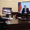 Владимир Путин во время встречи в режиме видеоконференции с Олегом Николаевым