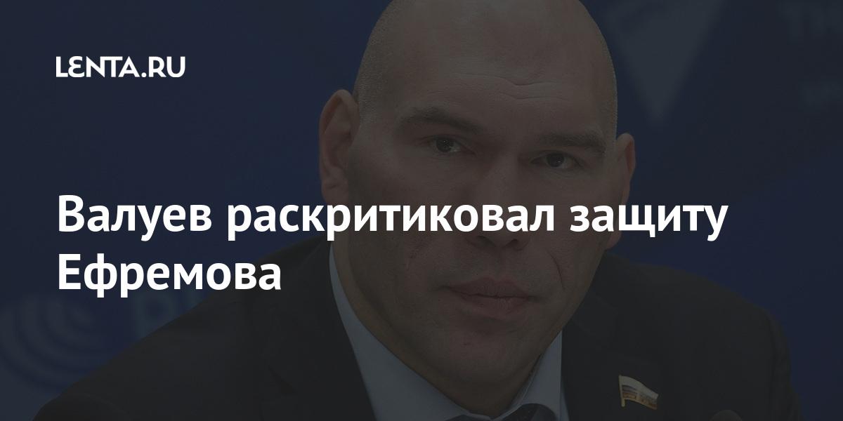 Валуев раскритиковал защиту Ефремова