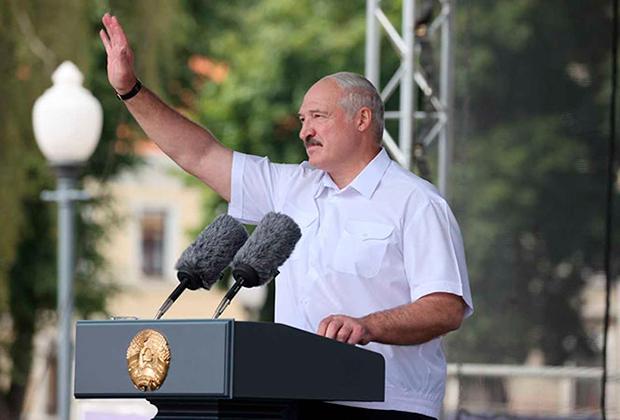 Александр Лукашенко на митинге в Гродно