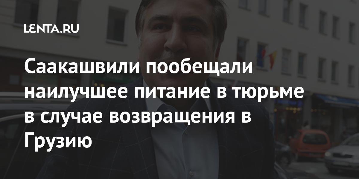 Саакашвили пообещали наилучшее питание в тюрьме в случае возвращения в Грузию