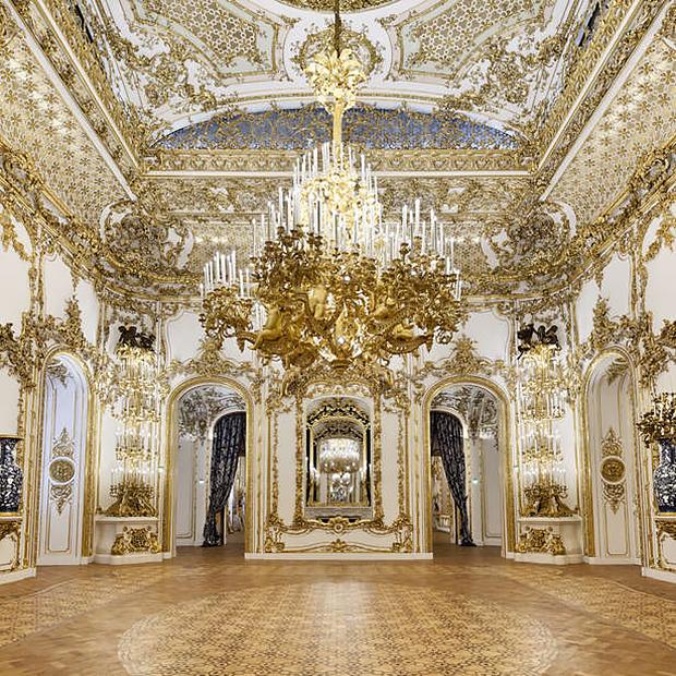 Бальный зал площадью 165 квадратных метров в королевском дворце City Palace в Вене