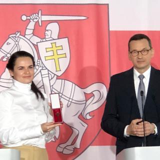 Светлана Тихановская и Матеуш Моравецкий