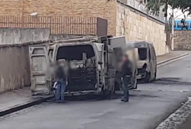 Фургоны, которые использовались при ограблении инкассаторов Loomis в августе 2020 года